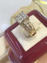 Load image into Gallery viewer, 14KT Two Tone Multi Shaped Diamond Fancy Ring