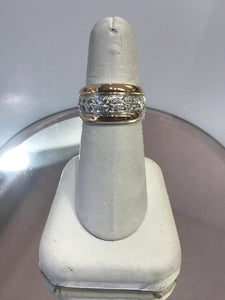 Sterling Silver & 18KT Y/G Cubic Zirconia Ring Gorgeous