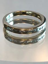 Load image into Gallery viewer, 14KT White Gold Diamond Band With Millgrain Edging