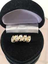Load image into Gallery viewer, 14KT Solid Yellow Gold 2 Carat CZ Tennis Ring