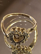 Load image into Gallery viewer, 14KT Solid Yellow Gold Diamond Heart Ring Sweet & Petite