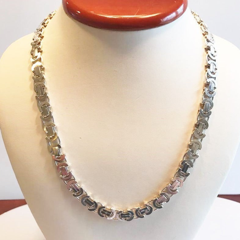 Sterling Silver Custom Italian Link Necklace 19 1/2