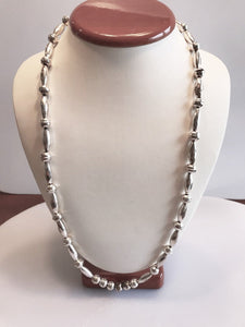 Sterling Silver .925 South West Corrugated Bead And Ball Necklace