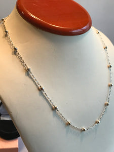 Silver .950 (95% Sterling) Ball And Link Chain 17""