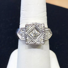 Load image into Gallery viewer, Antique 14KT Solid Yellow Gold Royal Diamond Cluster Ring