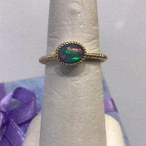 14KT Solid Yellow Gold Fire Opal Ring - NEW!