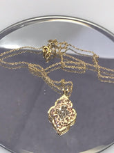 Load image into Gallery viewer, 14KT Solid Yellow Gold Chain With Diamond Cut Rose And Yellow Gold Pendant