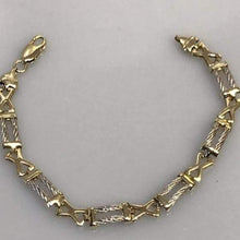 Load image into Gallery viewer, 14KT White & Yellow Gold Bracelet High Polish YG