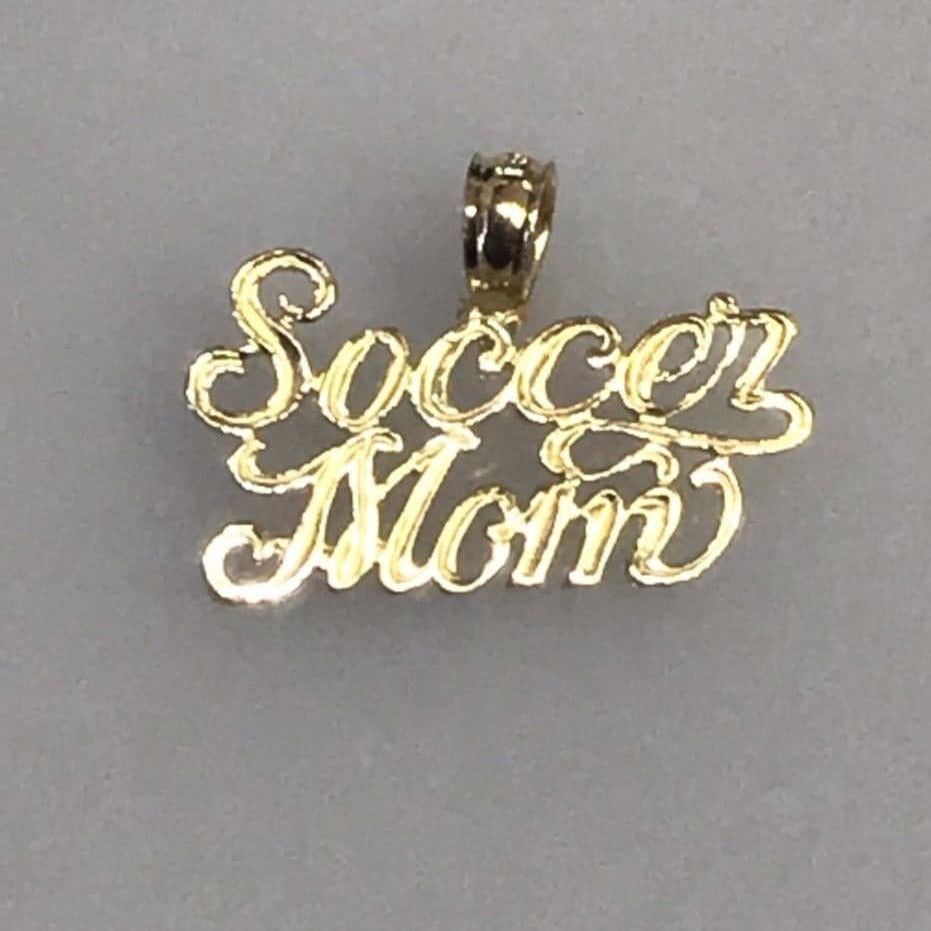 14KT Solid Yellow Gold #1 Soccer Mom Charm