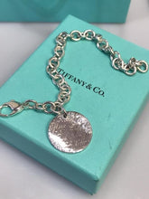 Load image into Gallery viewer, Tiffany & Co., NY Large Sterling Silver Note Tag Return To Bracelet