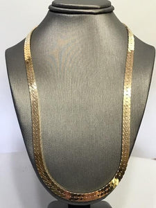 "14KT Yellow Gold Herringbone Necklace - 18"" Long"