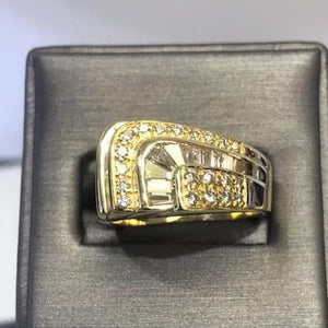 18KT Solid Yellow Gold Diamond Ring Custom Made