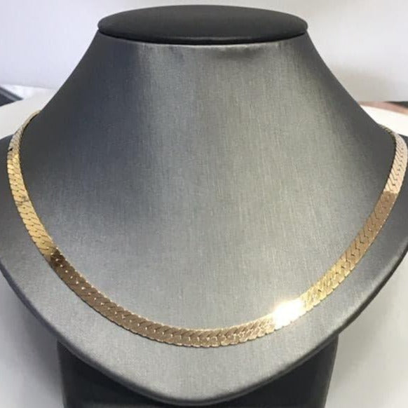 14KT Yellow Gold Herringbone Necklace - 18
