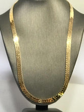 "Load image into Gallery viewer, 14KT Yellow Gold Herringbone Necklace - 18"" Long"