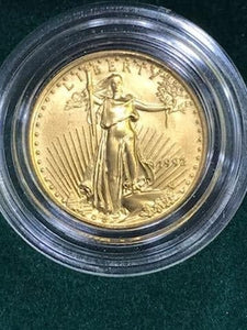 US Mint 1/10 Of An Ounce Gold Bullion Coin With Authenticity