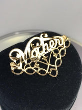 Load image into Gallery viewer, 14KT Solid Yellow Gold Mother Charm Pendant Pin Italian Italy Gold