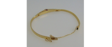 Load image into Gallery viewer, 14K Y/G Ruby & Diamond Omega Bracelet