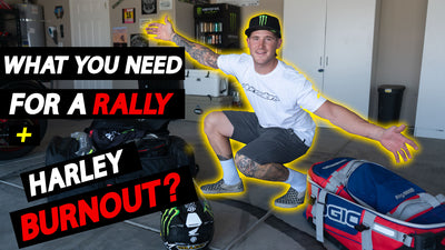 NEW VIDEO: Ricky Brabec Packs for a 5- Day Rally PLUS Crazy Harley Burnout