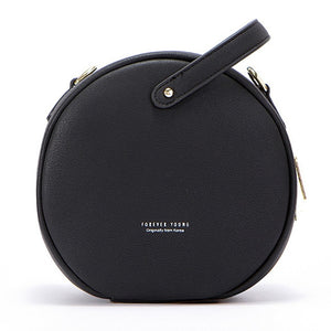 Leather Round Handbag