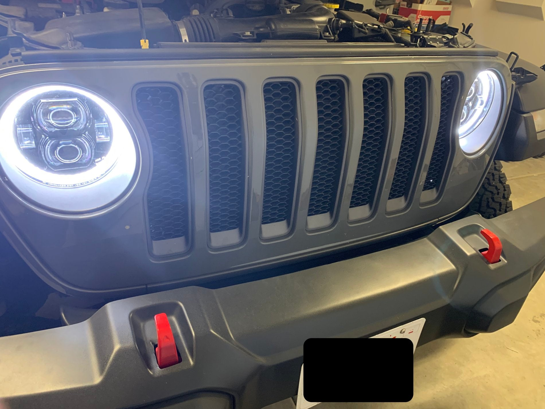Kiwi halo lights installed