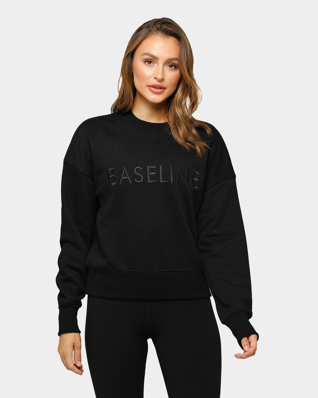 Ashy Bines Baseline Stand Out Sweater Black