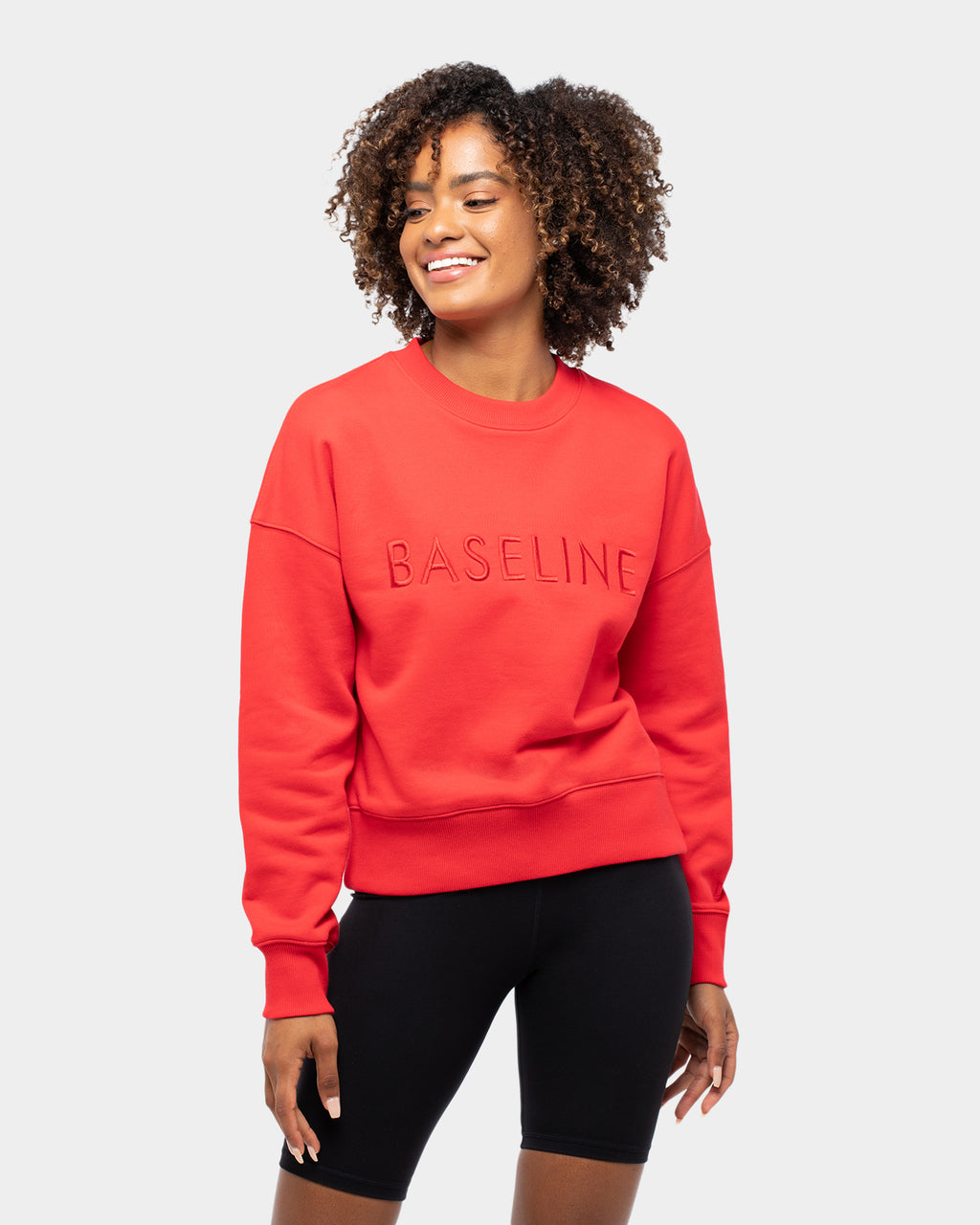 Ashy Bines Baseline Stand Out Sweater Red