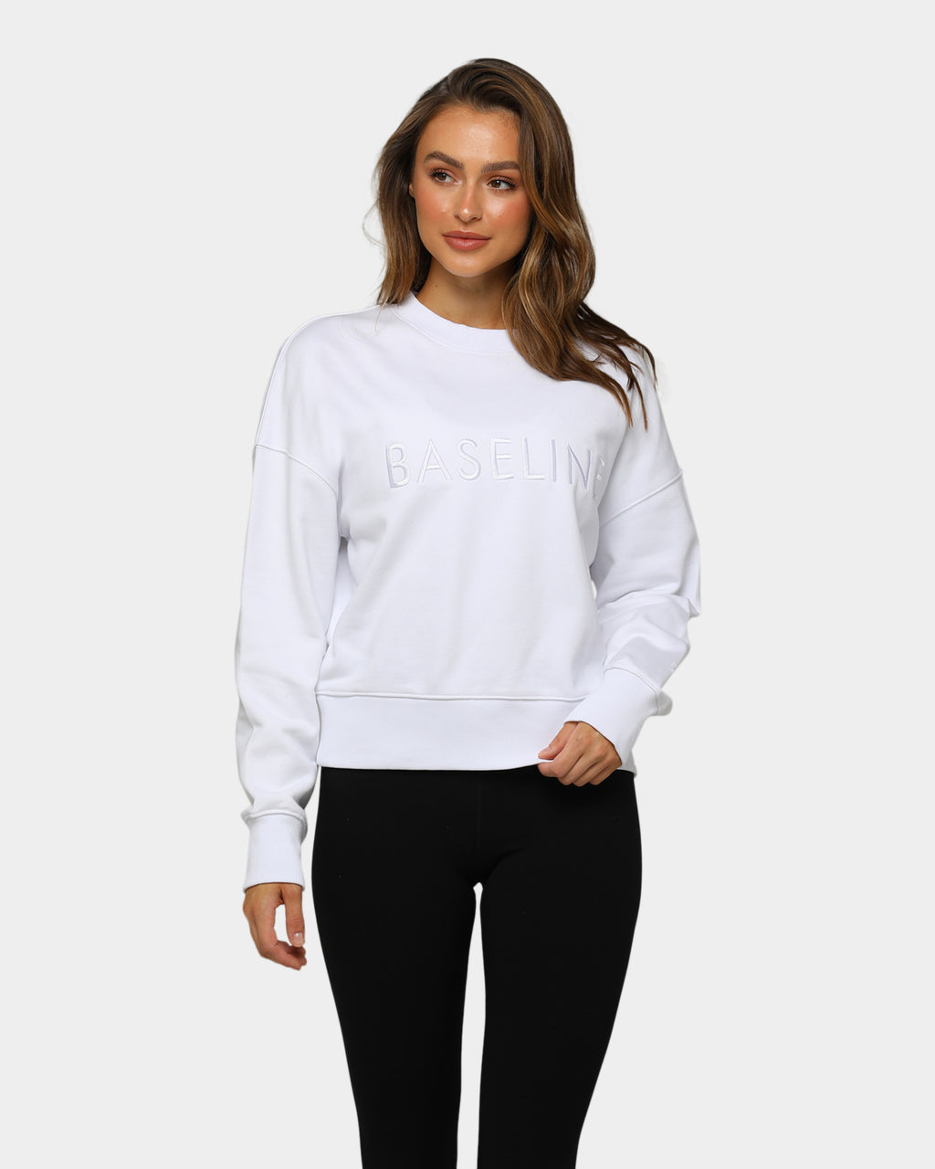 Baseline Stand Out Sweater White