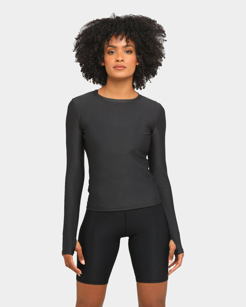 Baseline Elements Long Sleeve Top Black