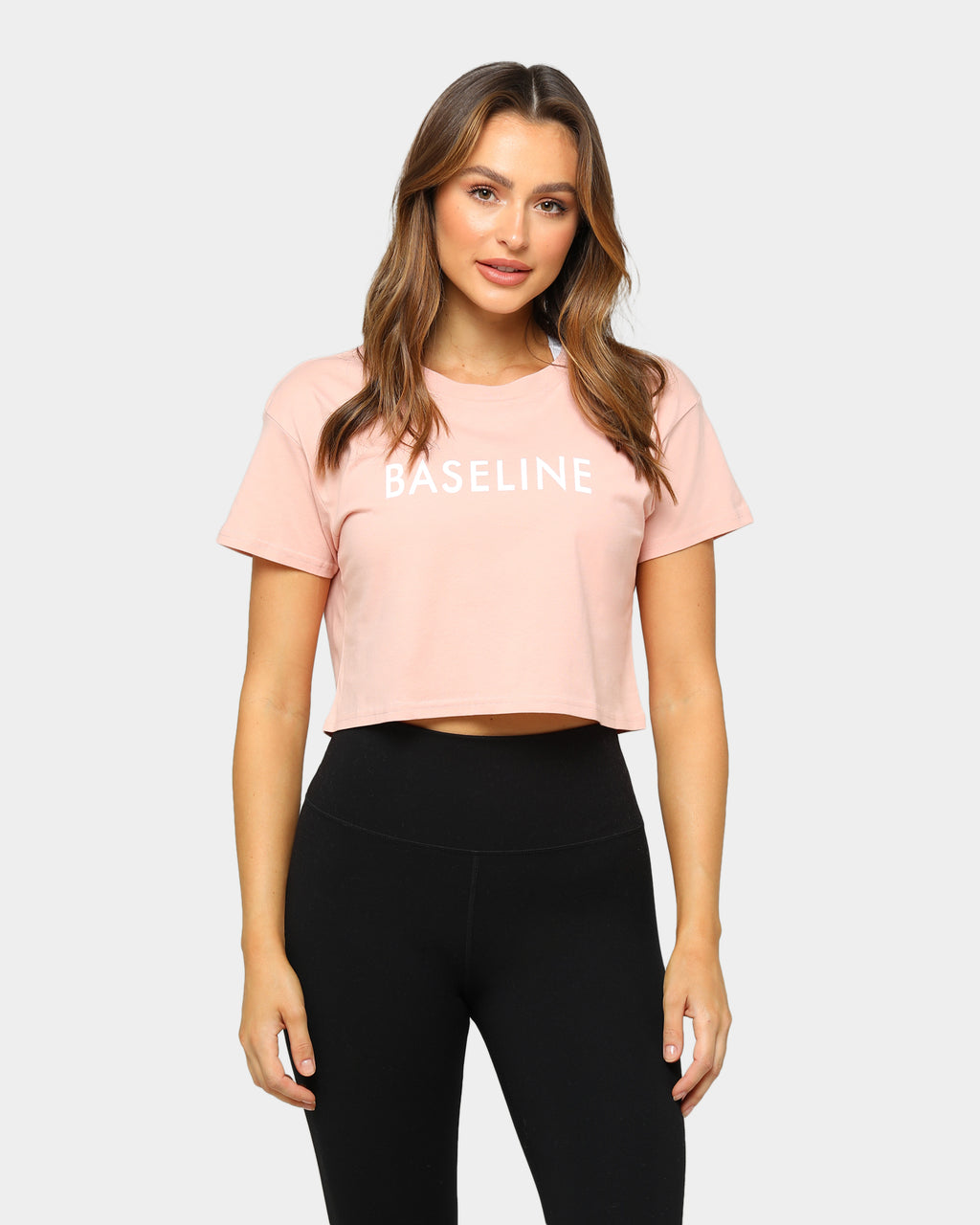 Baseline Everyday Crop Tee Pale Pink