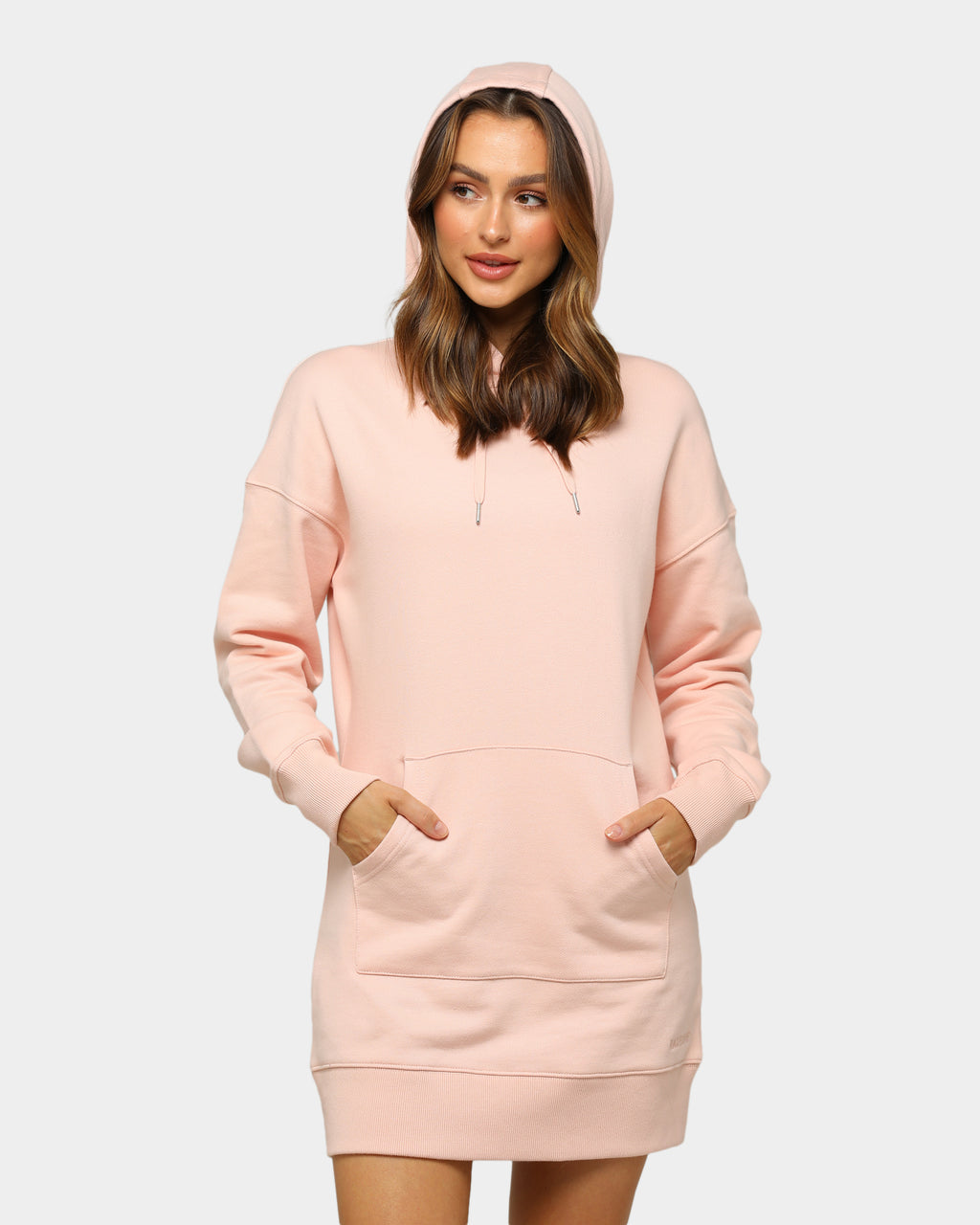 Baseline Hoodie Dress Blush