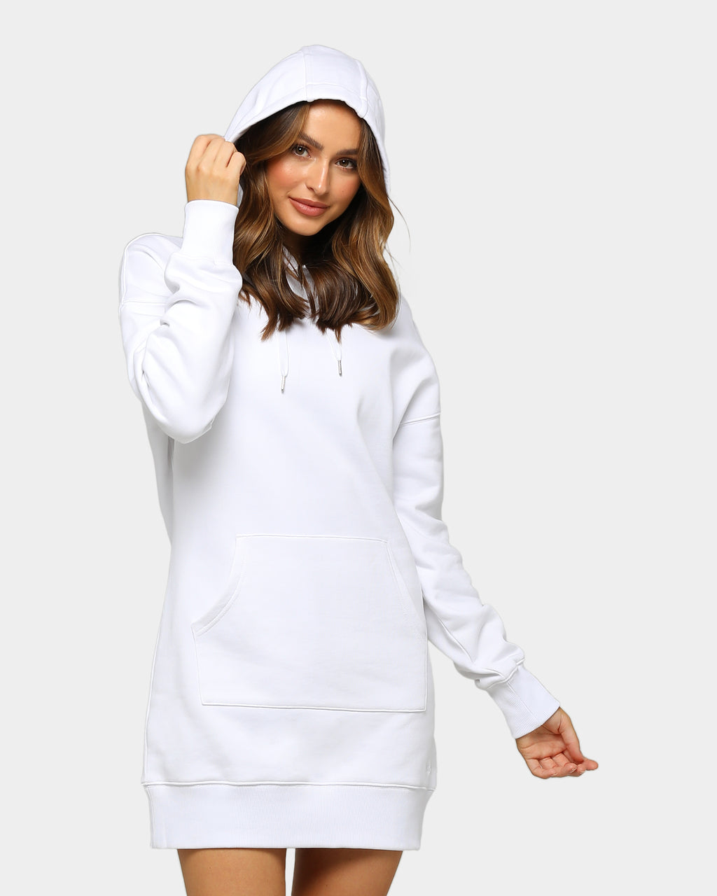 Baseline Hoodie Dress White