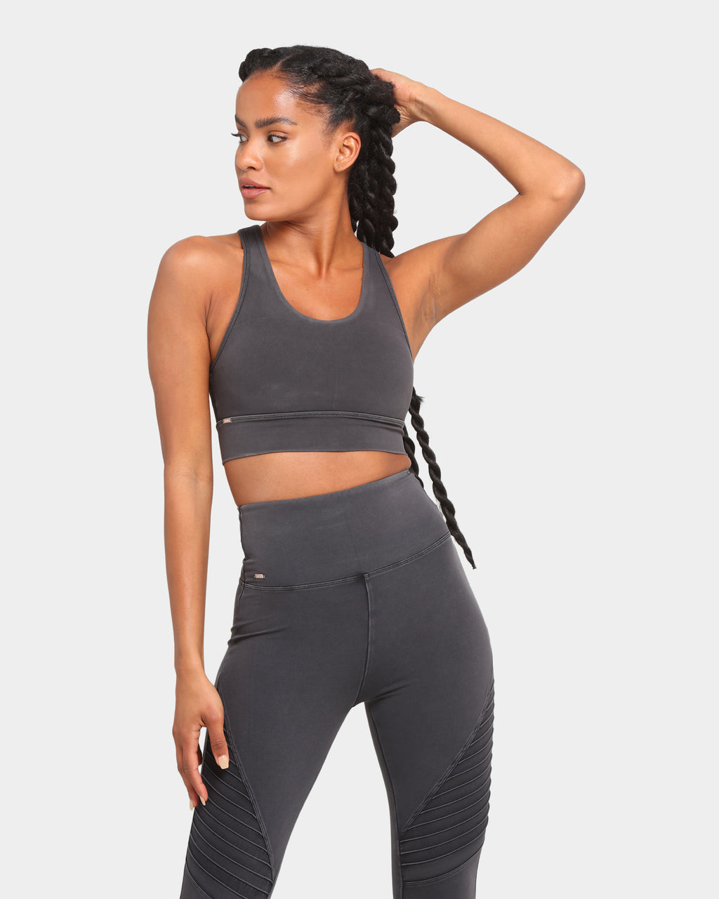 Baseline Blind Sided Sports Bra Washed Iron Grey