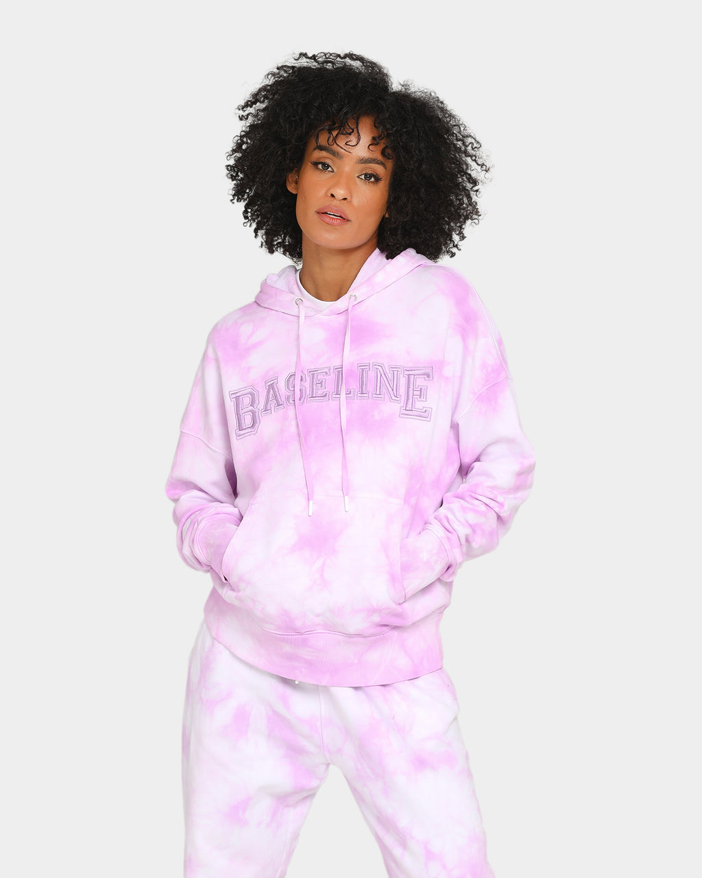 Baseline Stand Out Hoodie Pastel Purple Tie Dye