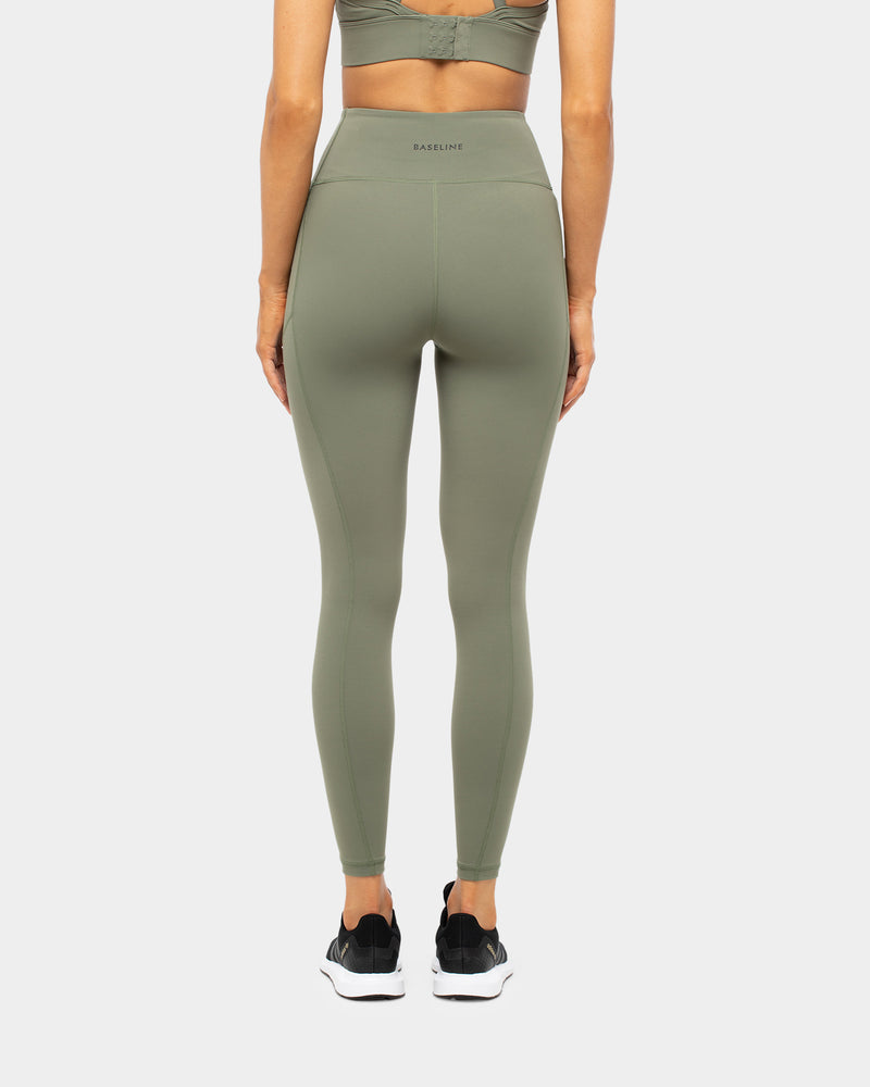Ashy Bines Baseline Next Level  Full Length Tight Khaki