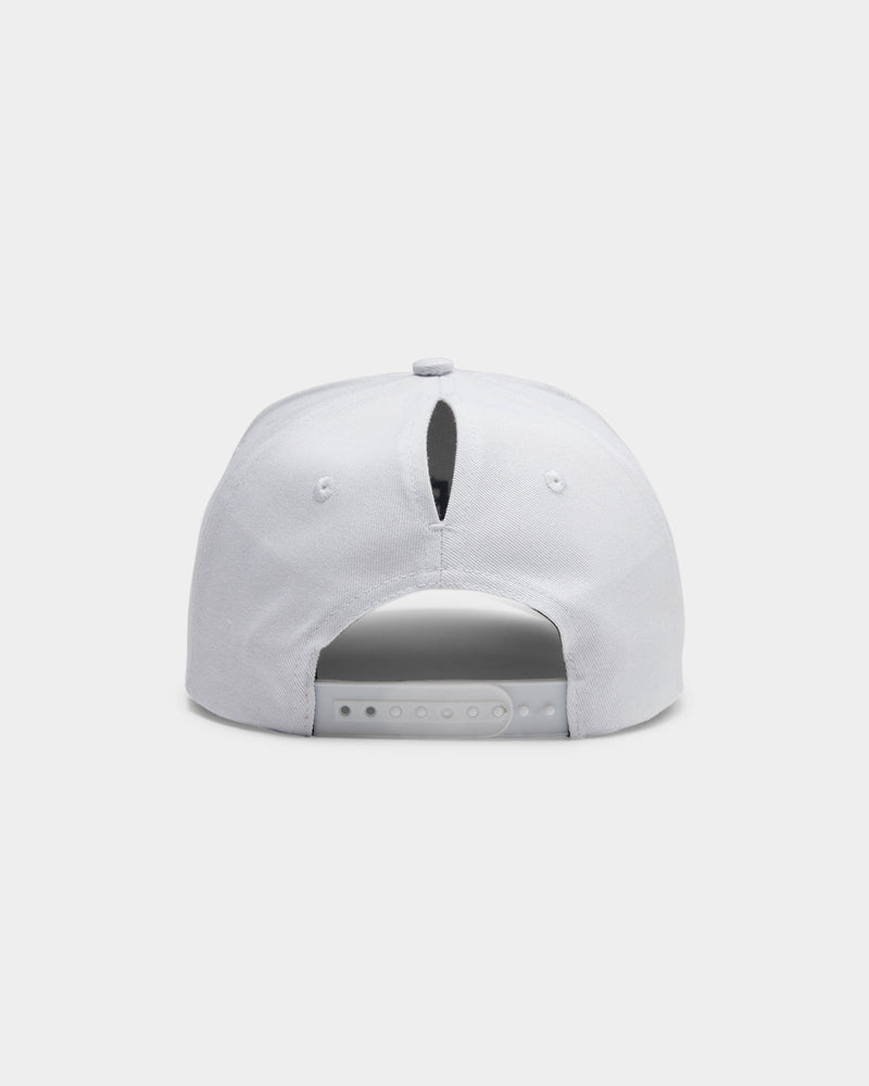 Baseline High Pony Hat White Black