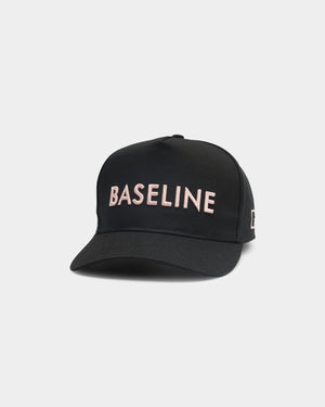 Baseline High Pony Hat Black Rose Gold