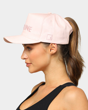 Baseline High Pony Hat Blush White