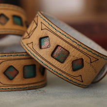 Load image into Gallery viewer, Polyhedral Dice bracelet - Verdigris