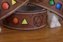 Load image into Gallery viewer, Polyhedral Dice Pride bracelet - Rainbow flag