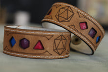 Load image into Gallery viewer, Polyhedral Dice Pride bracelet - Bisexual flag