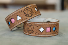 Load image into Gallery viewer, Polyhedral Dice Pride bracelet - Trans flag