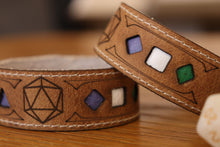 Load image into Gallery viewer, Polyhedral Dice Pride bracelet - Genderqueer flag