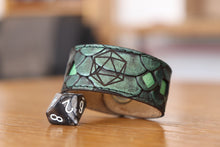 Load image into Gallery viewer, Polyhedral Dice bracelet - Green dragon