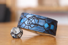 Load image into Gallery viewer, Polyhedral Dice bracelet - Blue dragon