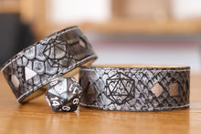 Load image into Gallery viewer, Polyhedral Dice bracelet - Silver dragon