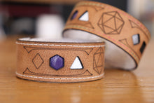 Load image into Gallery viewer, Polyhedral Dice Pride bracelet - Asexual flag