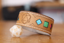 Load image into Gallery viewer, Polyhedral Dice Pride bracelet - Polysexual flag