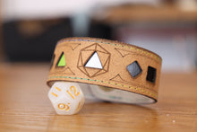 Load image into Gallery viewer, Polyhedral Dice Pride bracelet - Aromantic flag