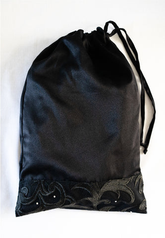 Black Lace Drawstring