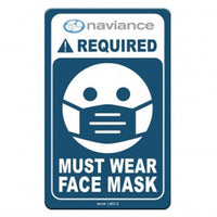 "Face Mask Required COVID-19 Coronavirus Prevention Custom Office Sign 5.5""x8.5"" Hard 60 Mil Styrene Card 